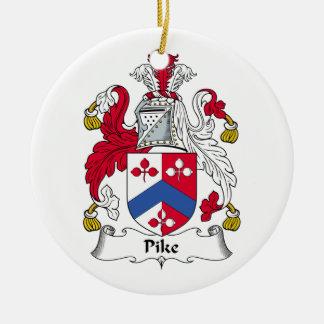 Escudo de la familia de Pike Ornamentos De Navidad