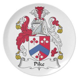 Escudo de la familia de Pike Plato De Cena