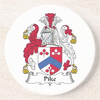 Escudo de la familia de Pike Posavasos Cerveza
