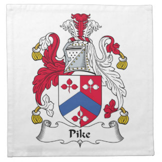 Escudo de la familia de Pike Servilletas