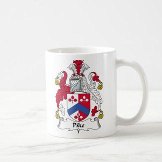 Escudo de la familia de Pike Tazas De Café