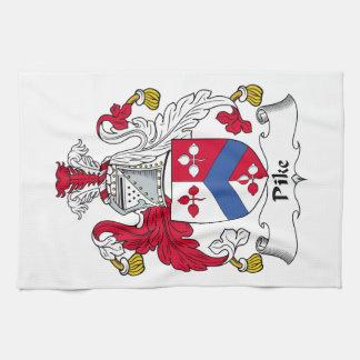 Escudo de la familia de Pike Toalla De Mano