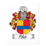 Escudo de la familia de Pilati Postal