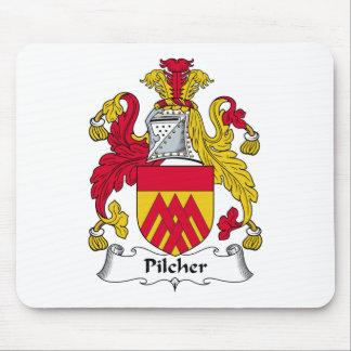 Escudo de la familia de Pilcher Tapetes De Raton