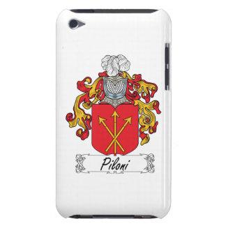Escudo de la familia de Piloni iPod Case-Mate Fundas