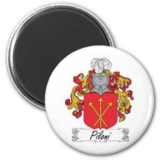 Escudo de la familia de Piloni Imán Redondo 5 Cm