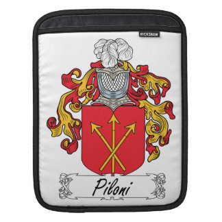 Escudo de la familia de Piloni Mangas De iPad
