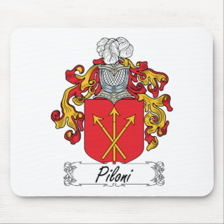 Escudo de la familia de Piloni Mousepad