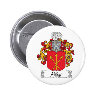 Escudo de la familia de Piloni Pin Redondo 5 Cm