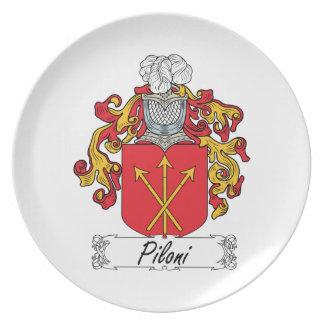 Escudo de la familia de Piloni Platos