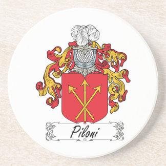 Escudo de la familia de Piloni Posavasos Personalizados