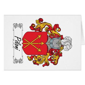 Escudo de la familia de Piloni Tarjeta De Felicitación