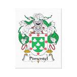 Escudo de la familia de Pimentel Lienzo Envuelto Para Galerías
