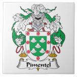Escudo de la familia de Pimentel Tejas Ceramicas