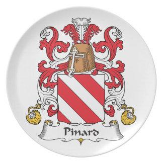 Escudo de la familia de Pinard Platos De Comidas