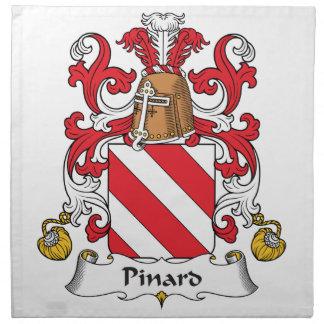 Escudo de la familia de Pinard Servilleta