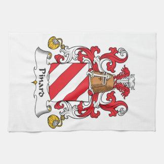 Escudo de la familia de Pinard Toallas