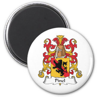Escudo de la familia de Pinel Imán Redondo 5 Cm
