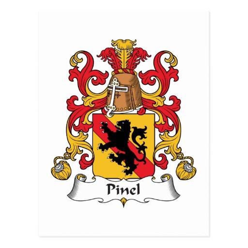 Escudo de la familia de Pinel Postal