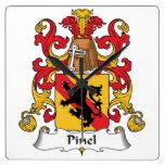 Escudo de la familia de Pinel Reloj