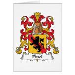 Escudo de la familia de Pinel Tarjetón