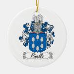 Escudo de la familia de Pinella Ornamento Para Reyes Magos