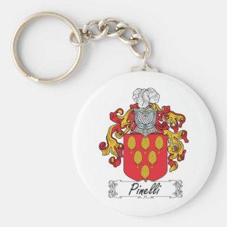 Escudo de la familia de Pinelli Llavero Redondo Tipo Pin