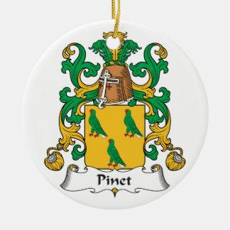 Escudo de la familia de Pinet Ornaments Para Arbol De Navidad