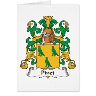 Escudo de la familia de Pinet Felicitaciones