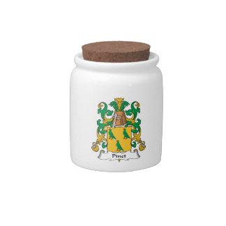 Escudo de la familia de Pinet Platos Para Caramelos