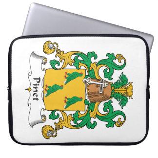 Escudo de la familia de Pinet Fundas Portátiles