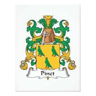 Escudo de la familia de Pinet Invitacion Personal