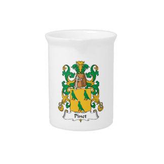Escudo de la familia de Pinet Jarrón