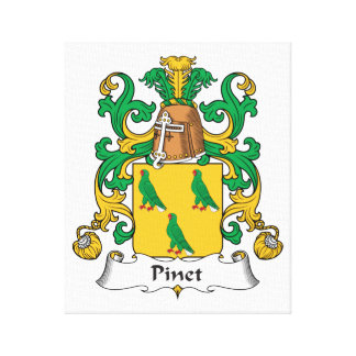 Escudo de la familia de Pinet Impresión En Lienzo Estirada