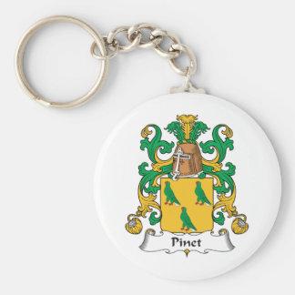 Escudo de la familia de Pinet Llaveros Personalizados