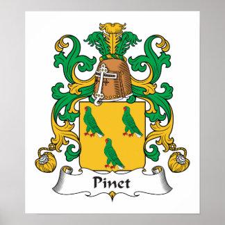 Escudo de la familia de Pinet Posters
