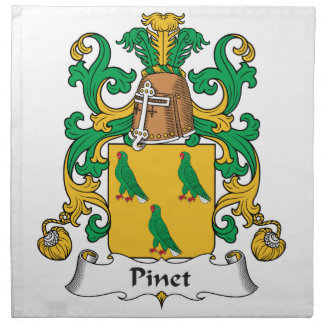 Escudo de la familia de Pinet Servilletas Imprimidas