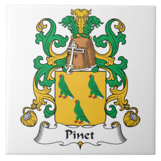 Escudo de la familia de Pinet Tejas Cerámicas