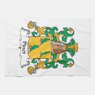 Escudo de la familia de Pinet Toalla De Cocina