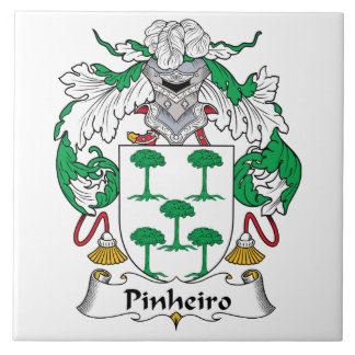 Escudo de la familia de Pinheiro Azulejo Cuadrado Grande