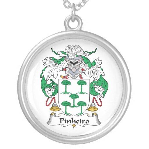 Escudo de la familia de Pinheiro Pendientes Personalizados