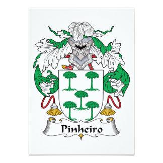 """Escudo de la familia de Pinheiro Invitación 5"""" X 7"""""""