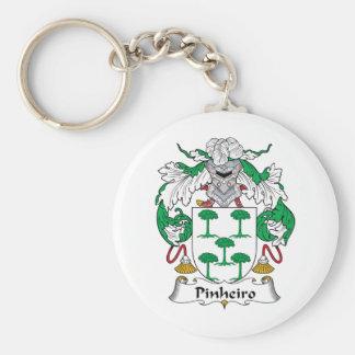 Escudo de la familia de Pinheiro Llavero Redondo Tipo Pin