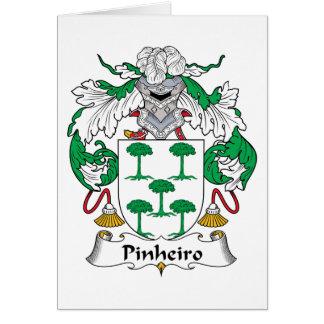 Escudo de la familia de Pinheiro Tarjeta De Felicitación