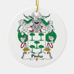Escudo de la familia de Pinho Ornamento De Navidad