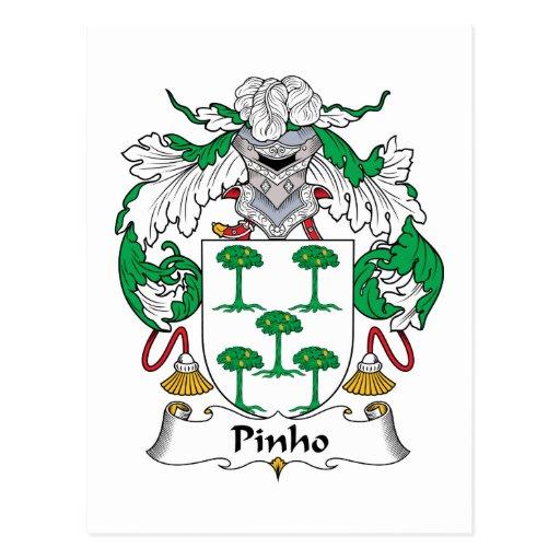 Escudo de la familia de Pinho Postales