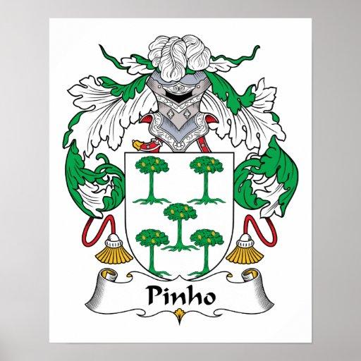 Escudo de la familia de Pinho Poster