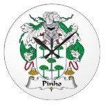Escudo de la familia de Pinho Relojes De Pared