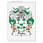 Escudo de la familia de Pinho Tarjetas