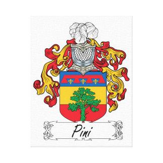 Escudo de la familia de Pini Lienzo Envuelto Para Galerías